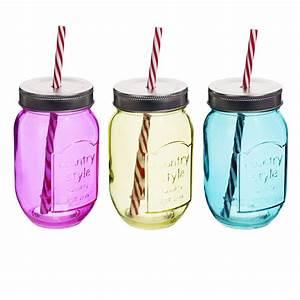 Mason Jar Paille : verres en forme de bocaux avec paille dans le couvercle by ~ Teatrodelosmanantiales.com Idées de Décoration