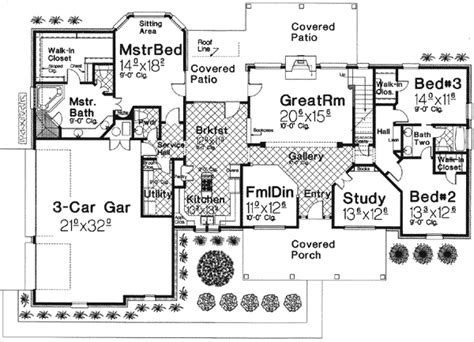 House Plans With Big Bedrooms by 3 Bedroom Home Plan With Large Bonus Room 48318fm