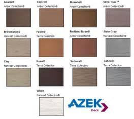 azek composite deck colors building material supplies