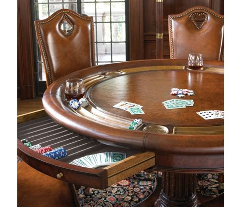 card and game tables luxury high end leather top card table for six with drawer