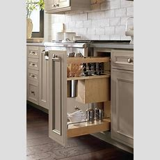 Utensil Pantry Pull Out Cabinet With Knife Block  Decora