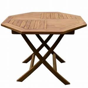 Table Teck Jardin : table de jardin octogonale en teck 4 pers trigano store ~ Teatrodelosmanantiales.com Idées de Décoration