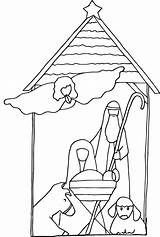Jesus Coloring Pages Nativity Christmas Simple Sheets Colour Printable Children Colouring Manger Kneeling Santa Mobile Rocks Bestcoloringpagesforkids Template sketch template
