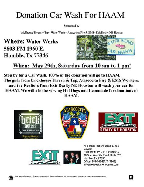 Donate Your Car Houston - donation car wash for haam this saturday may 29th 2010 10