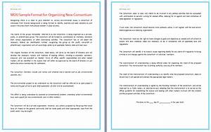 Small Business Partnership Agreement Template Mou Sample Format For Organizing New Consortium Dotxes