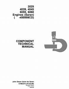 John Deere 3029 4039  4045 6059  6068 Engines  Saran
