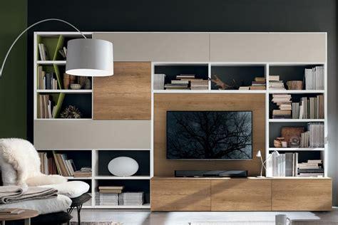 libreria con porta libreria a036 con base porta tv casa store salerno