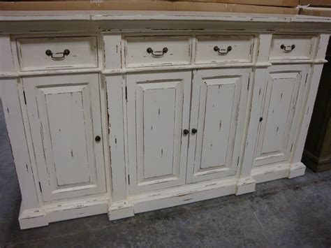 Stepped Front Buffet Sideboard Cabinet French Country