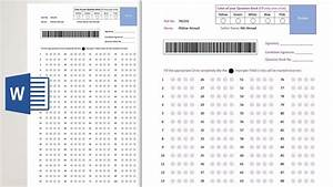 How To Make A Bubble Answer Sheet In Microsoft Word 2019