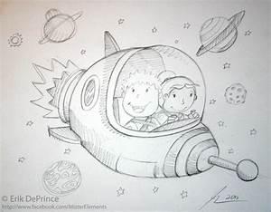 Cute Space Rocket Sketch by ErikDePrince on deviantART