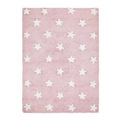 Tappeto Rosa by Tappeto Lavabile Rosa Stelle Bianche Canals