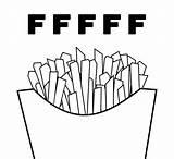 Coloring Fries French Kawaii sketch template