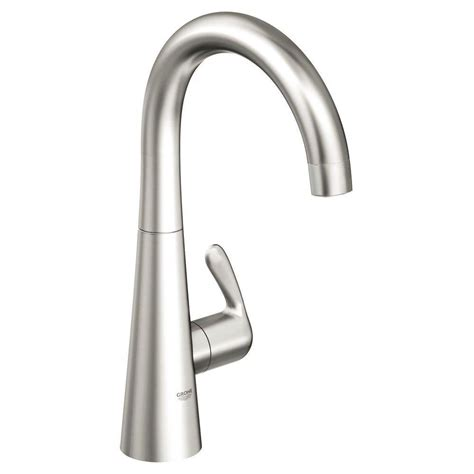 Faucet Grohe by Grohe Ladylux 3 Single Handle Standard Faucet In Realsteel