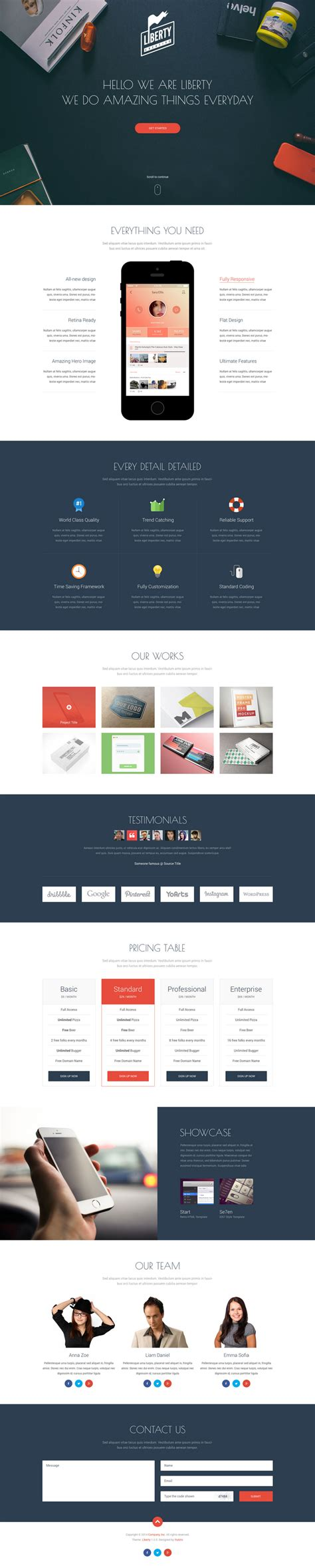 one page website template 10 best free website psd templates july 2014