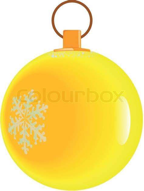 yellow christmas ball stock vector colourbox