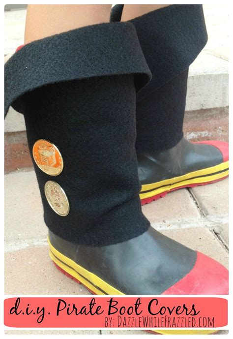 diy easy kid pirate boot covers diyideacentercom