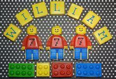 banner triangular  lego  happy birthday por