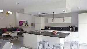 Deco Piece A Vivre Avec Cuisine Ouverte : quelles couleurs pour une cuisine ouverte trouvez la ~ Premium-room.com Idées de Décoration
