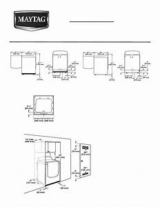 Maytag Medb725bw Dimension Guide User Manual