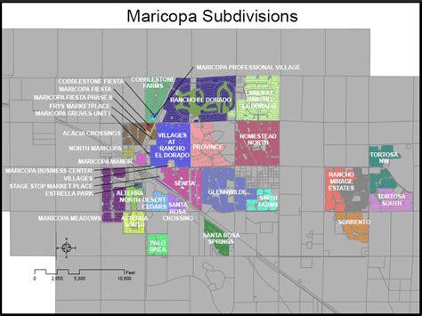 Arizona Map Maricopa Phoenix AZ