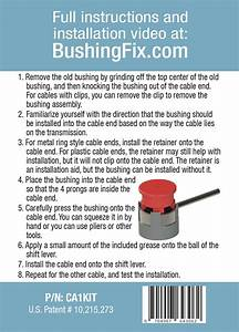 Buick Regal Manual Transmission Shift Cable Repair Kit W 2