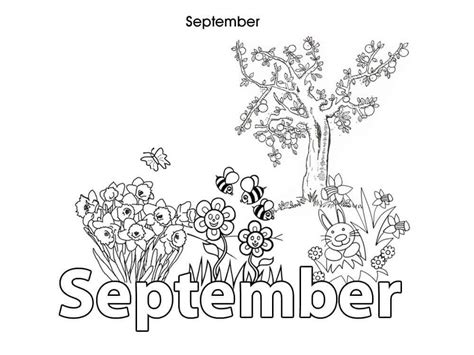 15 Free Printable September Coloring Pages