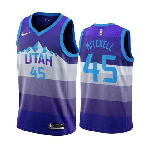 utah jazz donovan mitchell  purple throwback jersey