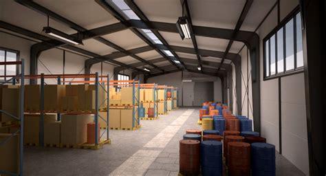 small warehouse scene  model cgstudio