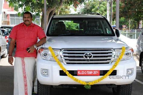 actor biju pappan   toyota land cruiser celebrity