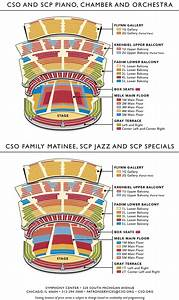 Symphony Center Chicago Seating Charts