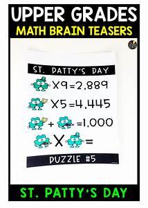 Upper Grades St  Patrick U0026 39 S Day Brain Teasers