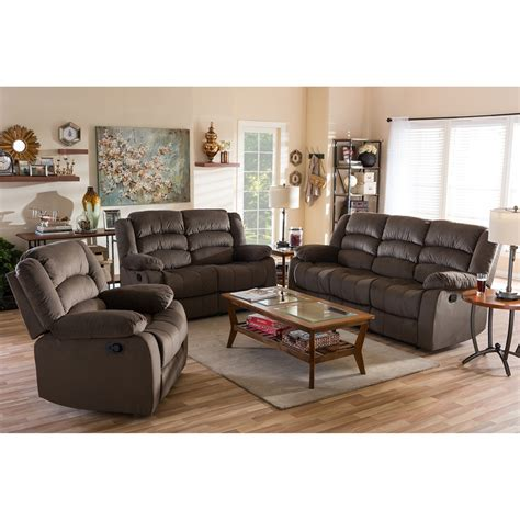 modern sofa and loveseat sets baxton studio hollace modern and contemporary taupe