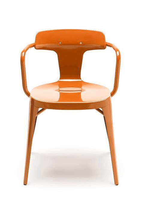 chaise potiron chaise t14 de tolix acier inox laqué brillant potiron