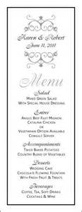 free wedding menu templates wedding menu template wedding menu template 8