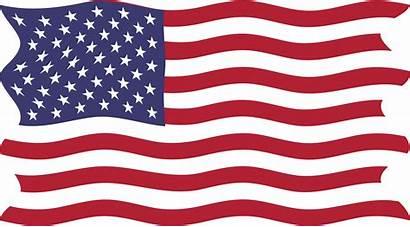 Flag American Usa Breezy Clipart Vector Bandera