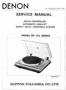 Denon Dp-31l Turntable Service Manual
