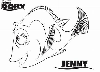 Dory Finding Coloring Pages Printable Nemo Disney