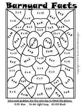 springtime multiplication mosaics math fact fun