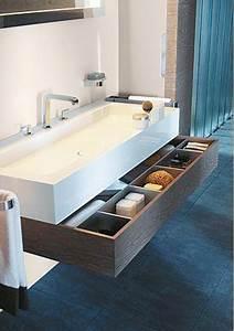 Organisateur Tiroir Salle De Bain : petite salle de bain d co optimis e avec des rangements ~ Teatrodelosmanantiales.com Idées de Décoration