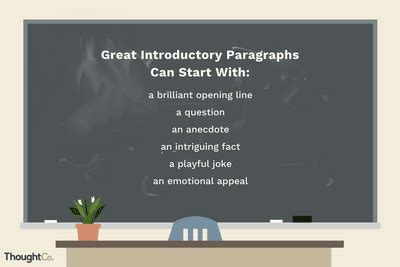 Write a Great First Sentence and Introductory Paragraph