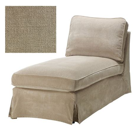 ikéa chaise ikea ektorp chaise longue cover slipcover vellinge beige