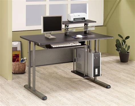 computer desk for two users computer desk with slideout keyboard shelf modern gray