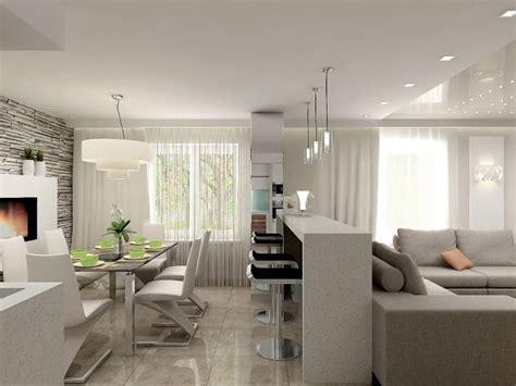 wohnzimmer mit offener küche wohnzimmer essbereich k 252 che in einem beispiel einrichtung neue wohnung altersgerecht in 2019