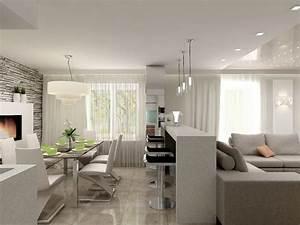 Wohnzimmer Mit Essbereich : wohnzimmer essbereich k che in einem beispiel einrichtung neue wohnung altersgerecht in 2019 ~ Watch28wear.com Haus und Dekorationen