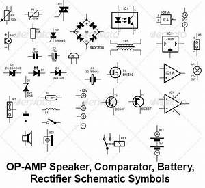Circuit Schematic Symbols For Diodes Conduct Electricity
