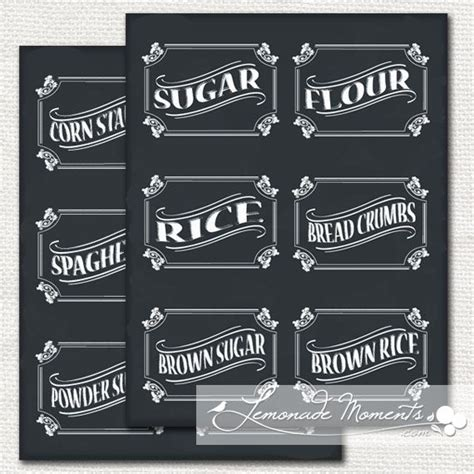 Kitchen Canister Labels by Canister Labels Craft Ideas