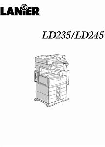 Lanier Copier Ld245 User Guide