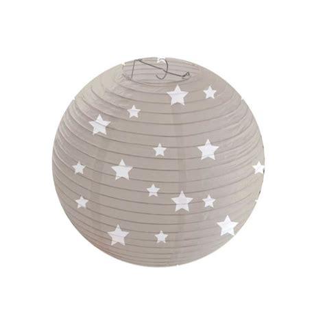 plafonnier chambre bébé domiva suspension lanterne etoile sur fond taupe taupe