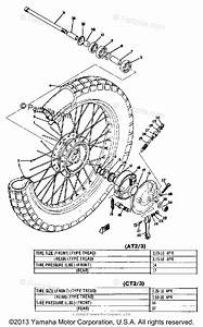 Yamaha Motorcycle 1973 Oem Parts Diagram For Front Wheel
