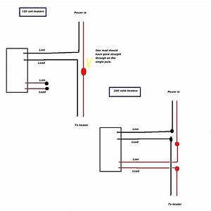 Electric Baseboard Thermostat Wiring Diagram 110